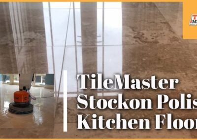 TileMaster Stockton Polish Marble Kitchen Floor in Wynyard